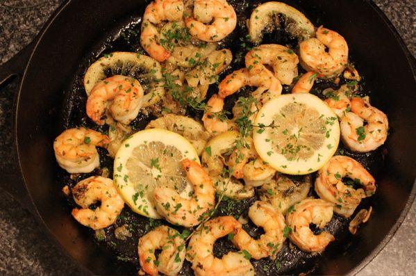 Shrimp With Garlic And Lemon Recipe — Dishmaps