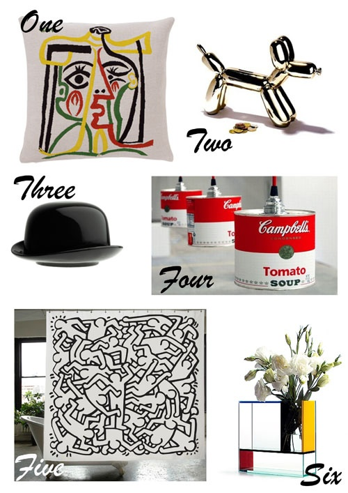 ... Keith Haring shower curtain by Izola Shower 6. Mondri Vase by Frank