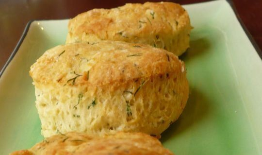 Improvised Recipe: Yogurt Biscuits with Dill