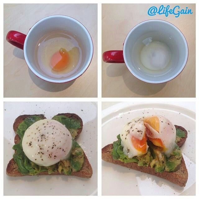 Easy poached egg | Just great food | Pinterest