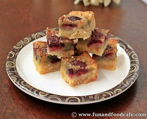 Brown-Butter Chocolate Cherry Blondies | Recipe