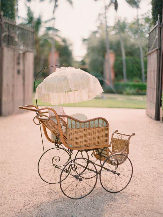 Precious vintage baby stroller