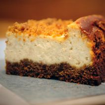 Spiced Eggnog Cheesecake with gingersnap crust