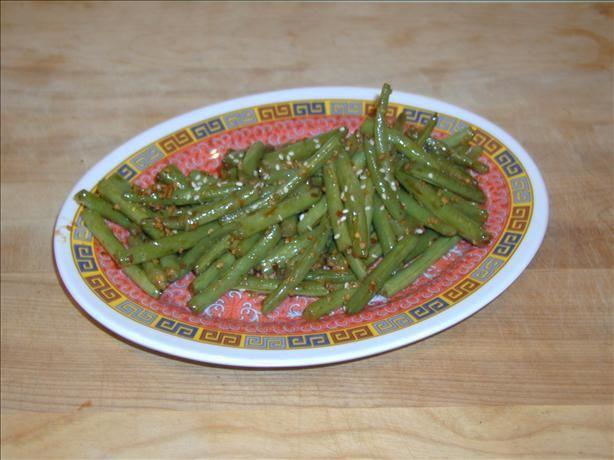 Hot Szechuan-Style Green Beans. Photo by Crabzilla