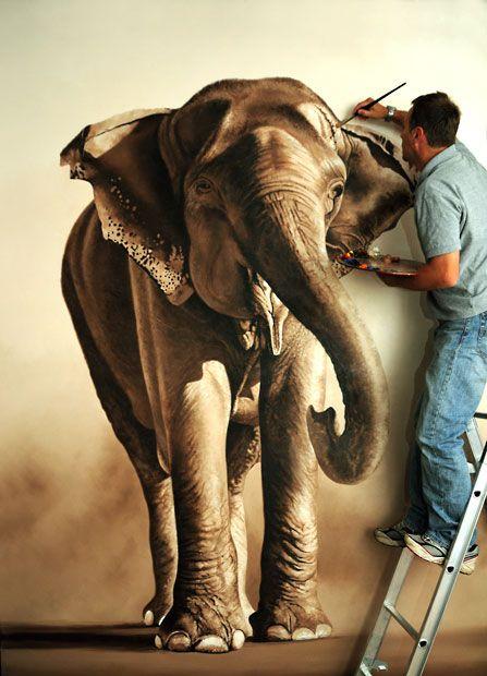 Elephant family painting - photo#26