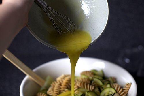 zucchini and almond pasta salad | FOOOOOOD | Pinterest