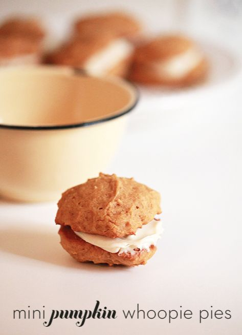 Mini pumpkin whoopie pies... your guests won't be able to stop eating ...