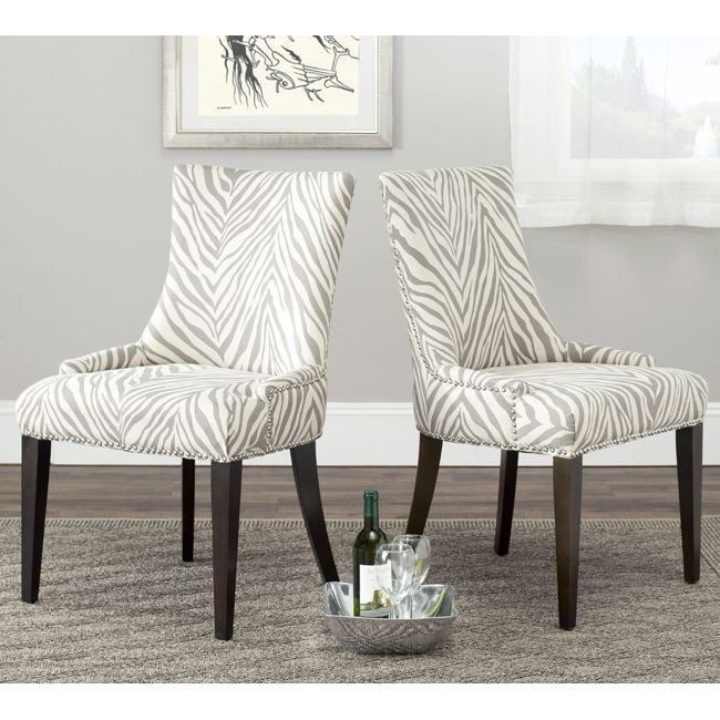 Safavieh 39 Becca 39 Zebra Grey Dining Chair