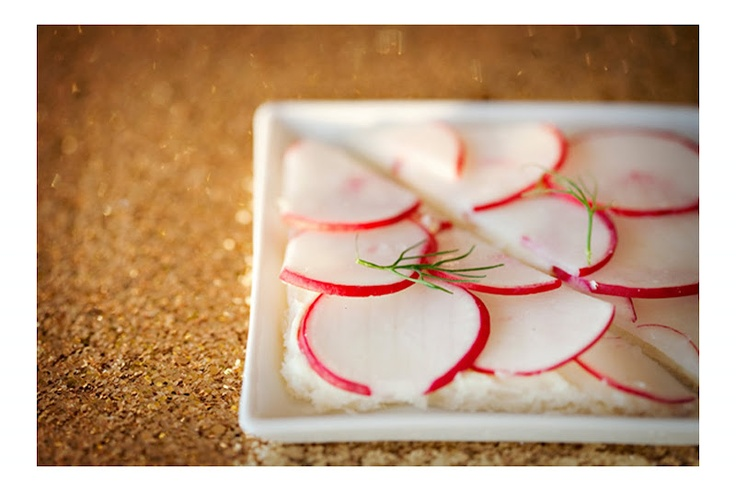 Radish + Butter Tea Sandwich | Food Recipes | Pinterest