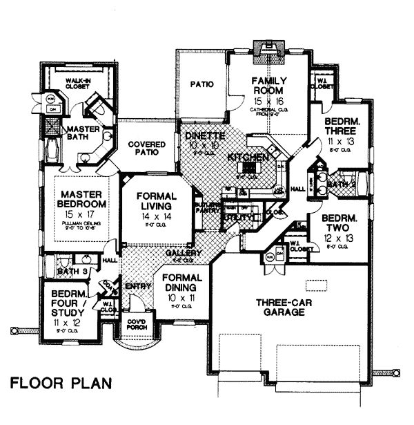 European tudor house plan 66023 for Tudor mansion floor plans