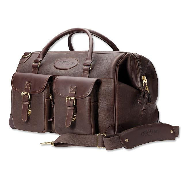 Just found this Mens Leather Carry-On Bag - Bullhide Leather Weekend Carry-On -- Orvis on Orvis.com!