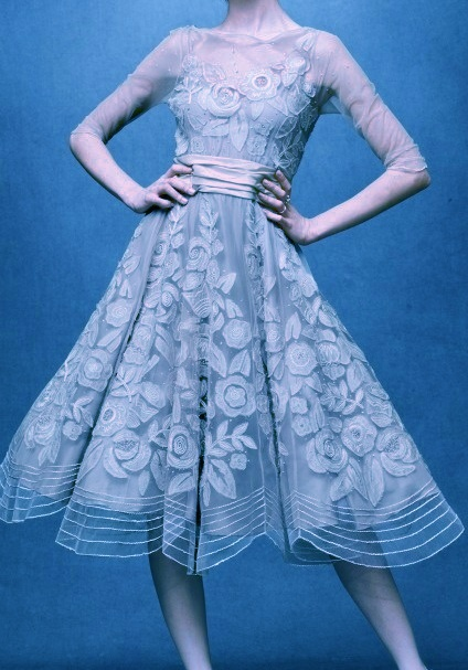 Blue Lace Tea Length Dress Lacy Beach Casual Wedding Pinterest