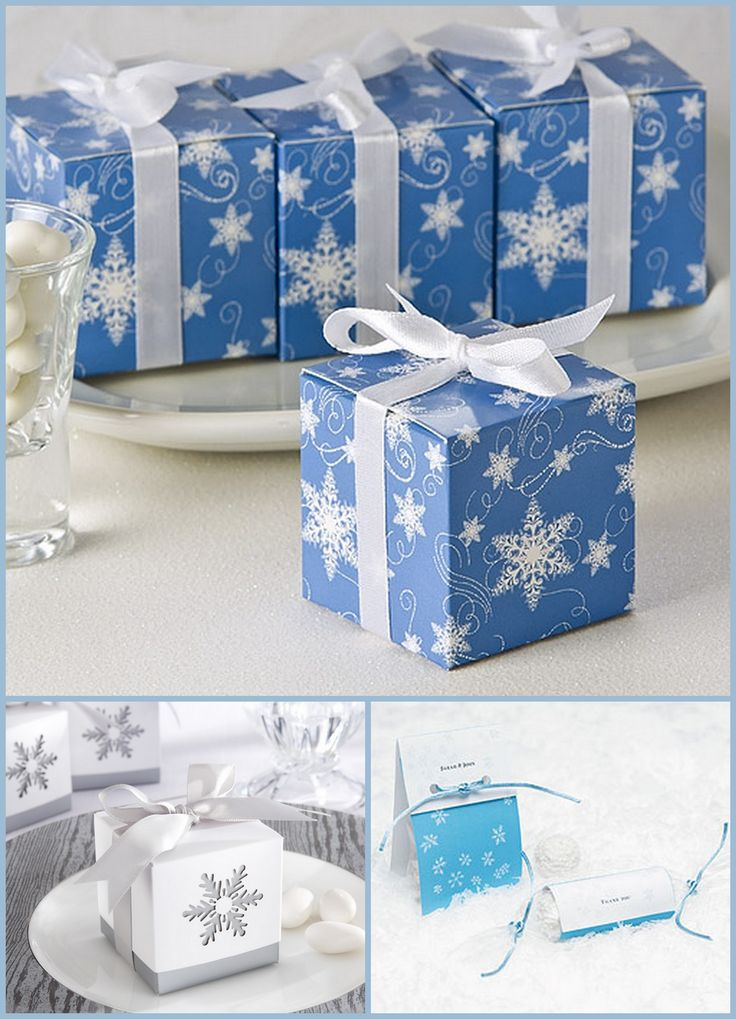 Winter Wedding Favor Box from hotref.com