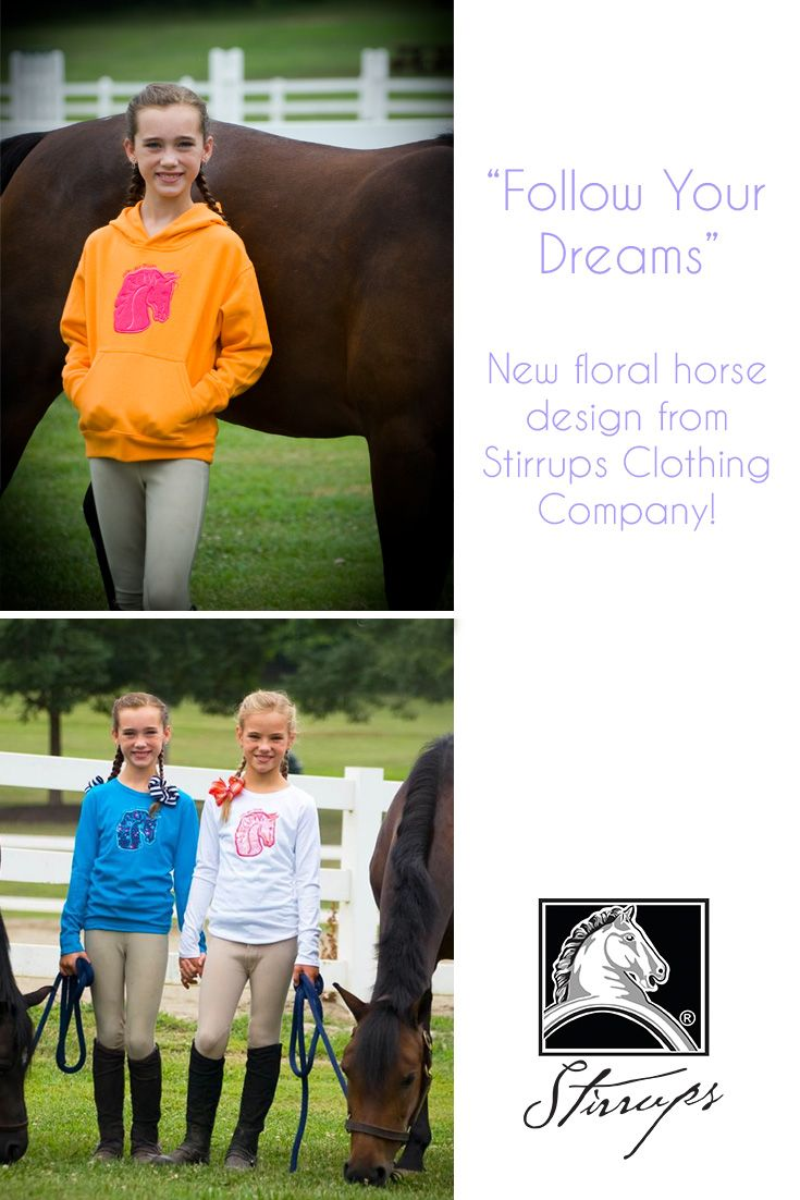 Equestrian Style for girls! New Follow Your Dreams design features a