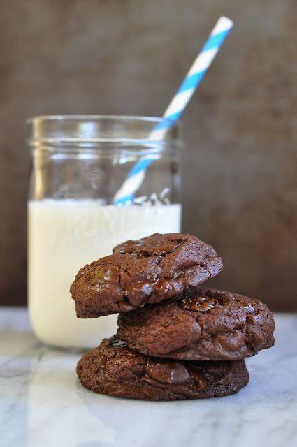 dark chocolate chip cookies | Cookie Monster | Pinterest