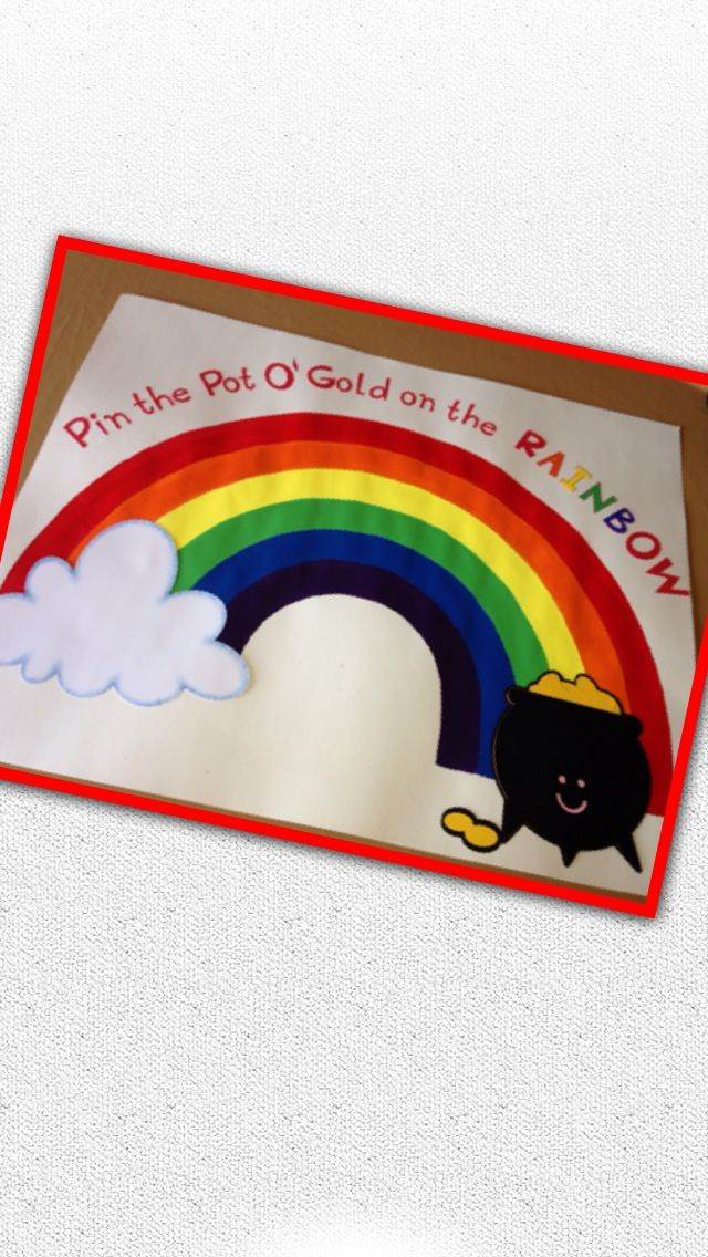 ... Rainbow Theme birthday party. Poster board created by Distinctive