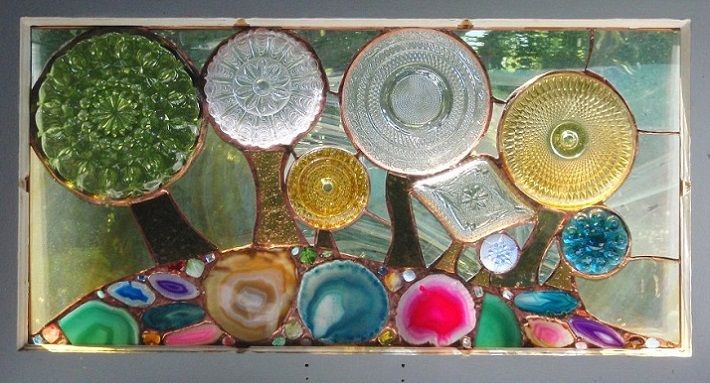 Recycled glass art stained glass craft diy general for Recycled glass art