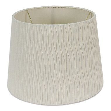 mix match medium 12 inch curve pleated drum lamp shade. Black Bedroom Furniture Sets. Home Design Ideas
