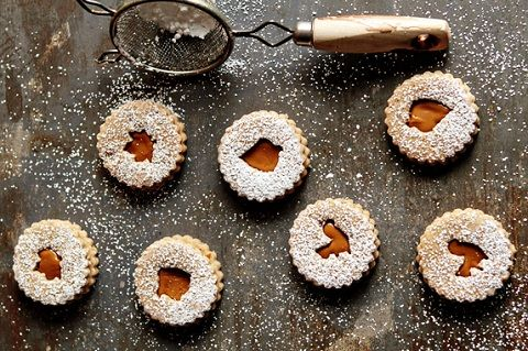 Spiced Linzer Cookies (from My Baking Addiction)