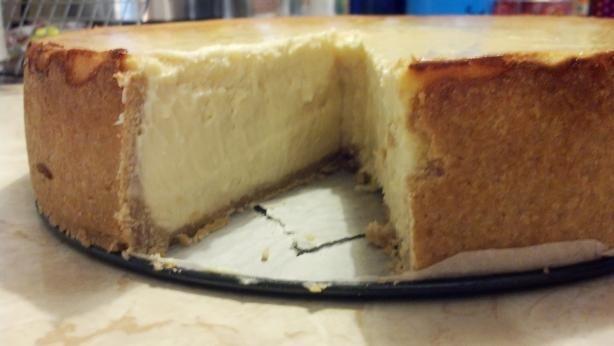 Food Recipe New York Style Cheesecake On Shortbread Crust