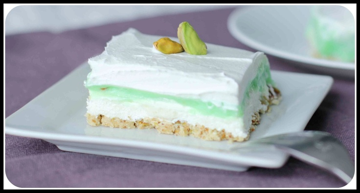pistachio cream cheese dessert | Desertss | Pinterest