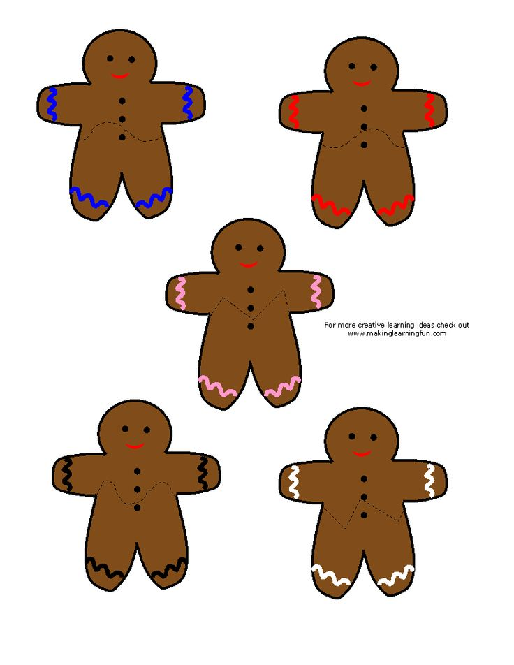 puzzle template | Gingerbread Man | Pinterest