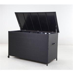 Mimosa Resin Wicker Outdoor Storage Box - Bunnings Warehouse