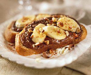 ... white chocolate cherry hazelnut bruschetta dessert recipes dishmaps