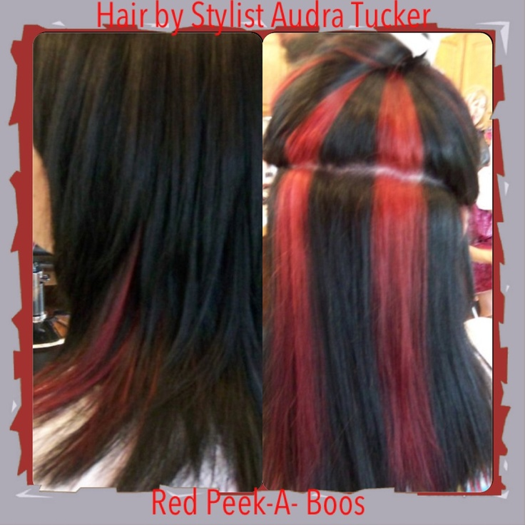 Pictures Of Dark Hair With Red Peekaboo Highlights Kidskunstfo