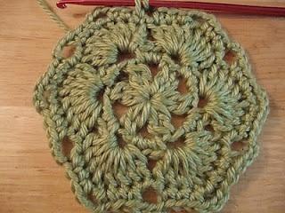 Crochet Sea Motifs Set of 5 in Teal Sea Star by