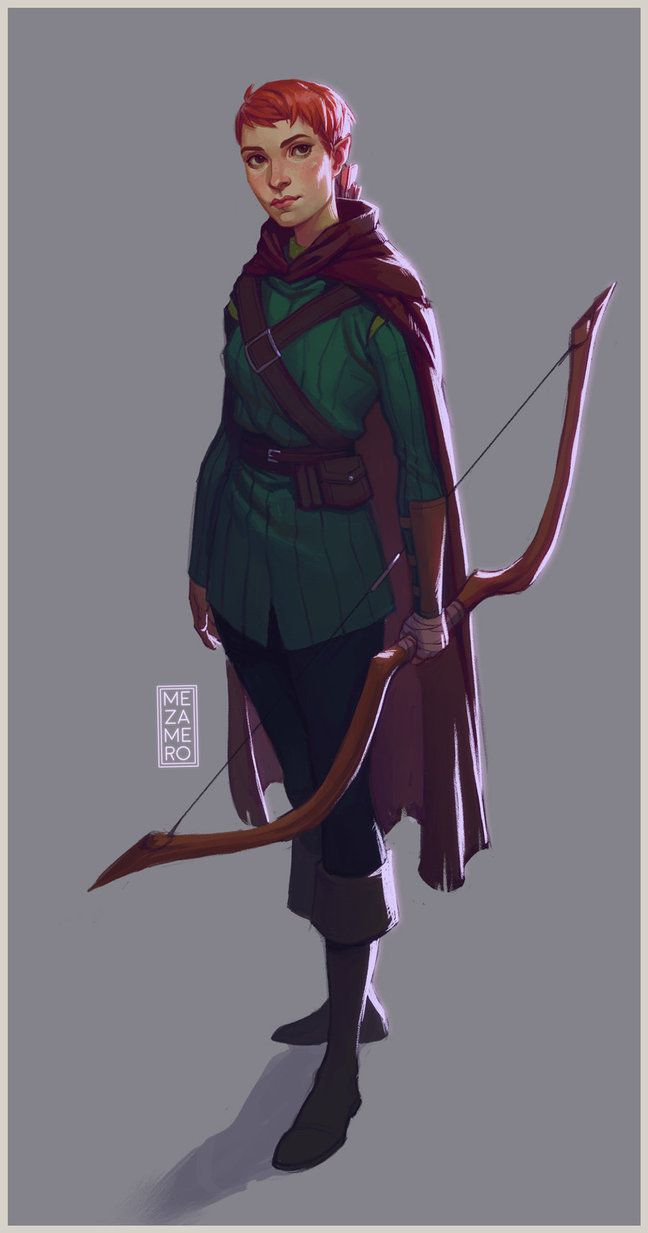 Redhead elven archer pron pics