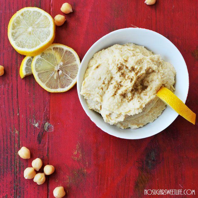 Easy homemade lemon & garlic hummus. | Nosh & Nourish Recipes! | Pint...