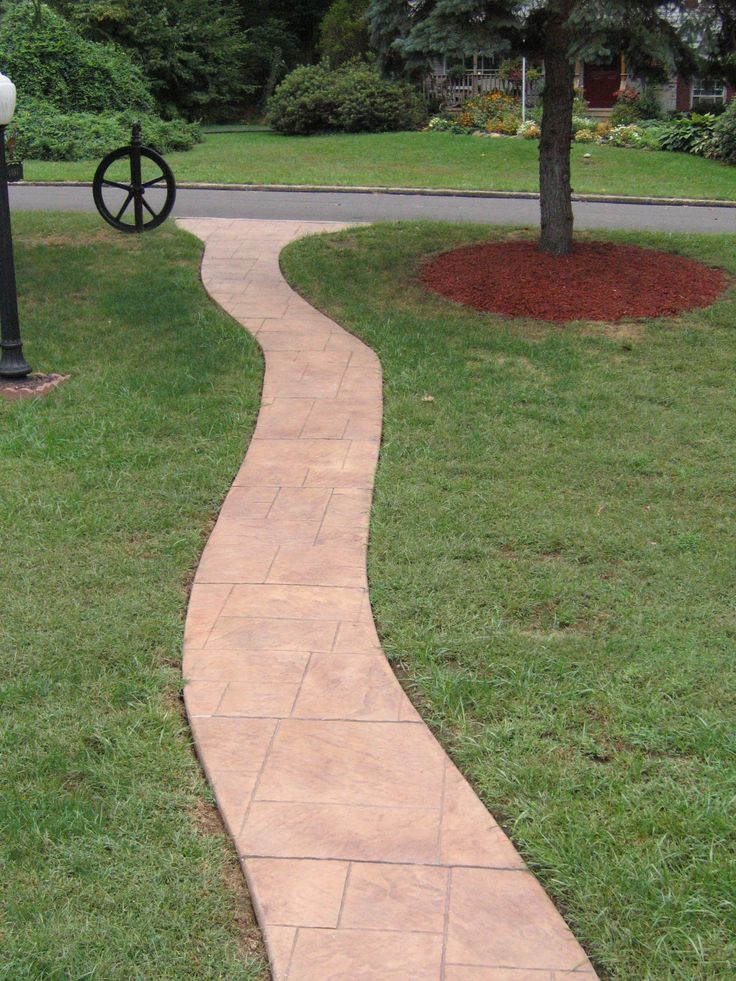 Stamped concrete walkway misc ideas pinterest - Stamped concrete walkway ideas ...