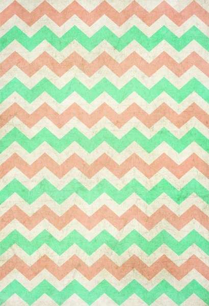 Mint And Coral Chevron...