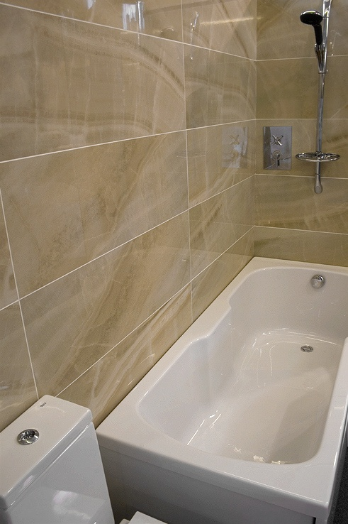 Big shiny tiles bathroom plans pinterest - Bathroom tile ideas bathroom ...