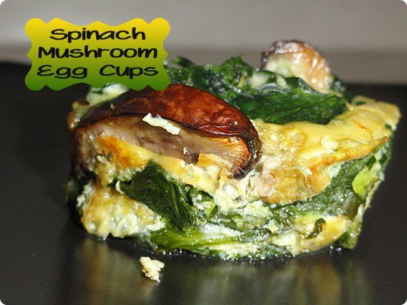 Spinach Mushroom Egg Cups | The One With All the Recipes | Pinterest