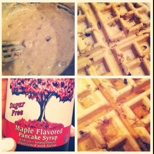 ... waffles w/ walnuts & stevia sweetened maple syrup. www.hildacastillo