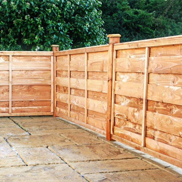 Horizontal Fence Backyard Pinterest