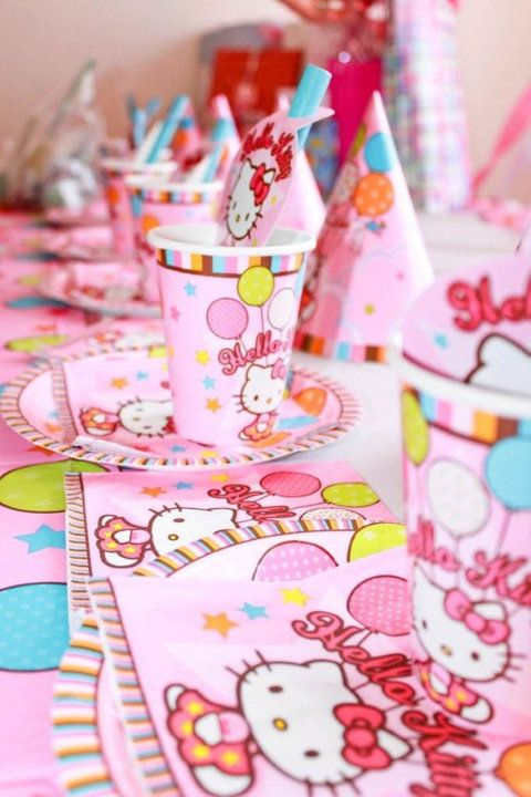 Hello Kitty Birthday theme party  Everything Zoey  Pinterest