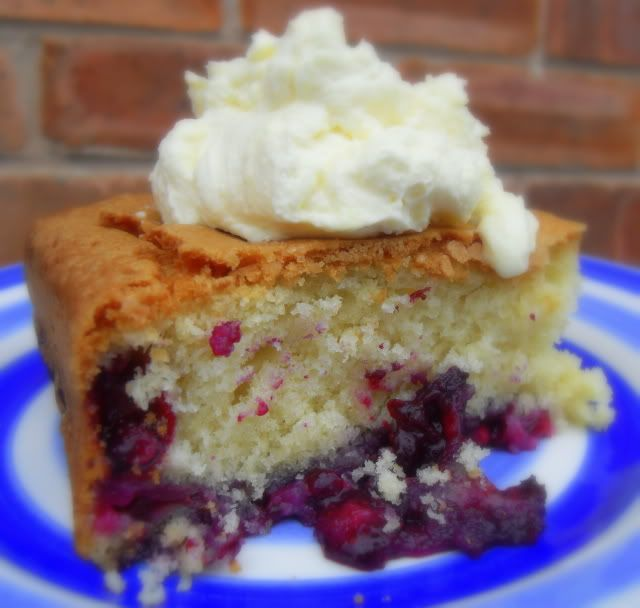 Melt-In-Your-Mouth Blueberry Cake with a Lemon Cream, # ...