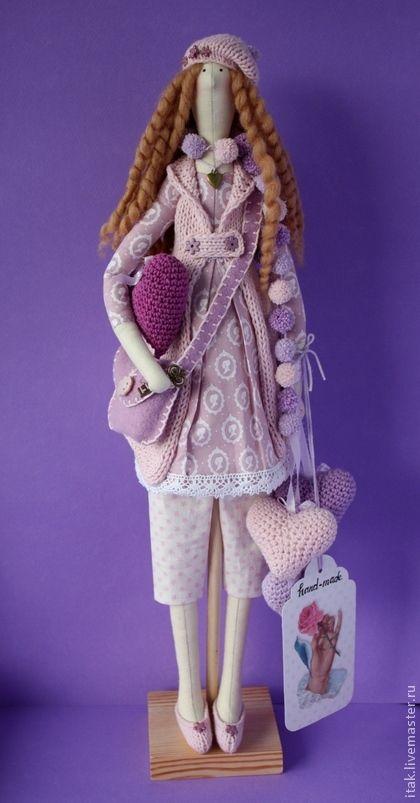 Куклы Тильды ручной работы.  Ярмарка Мастеров - ручная работа Тилда в лавандовых цветах.  Ручная работа.