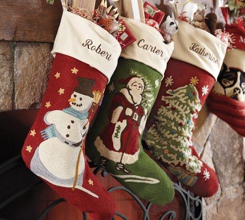beautiful pottery barn stockings christmas pinterest. Black Bedroom Furniture Sets. Home Design Ideas