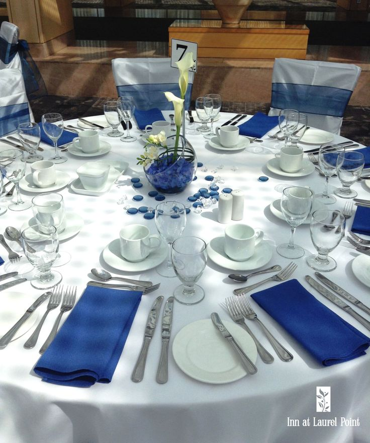 blue table settings wedding shades of blue pinterest