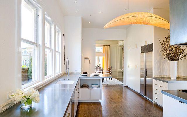 zinc countertop kitchen