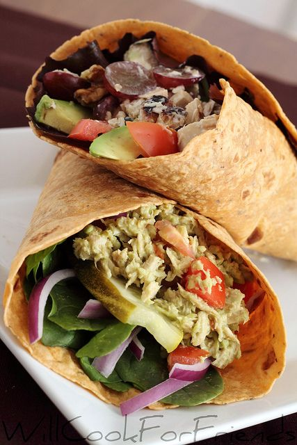 Avocado Tuna Salad Wrap | food to try | Pinterest