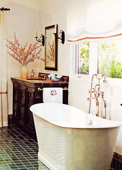 Light, airy, and refreshing. I could do some serious relaxing in that tub...