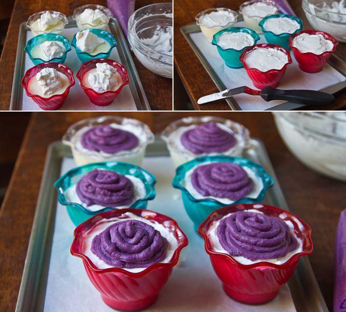Purple Sweet Potato Mont Blanc Pudding   DESSERTS   Pinterest