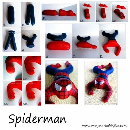 Fondant/gum paste Spider-Man tutorial.