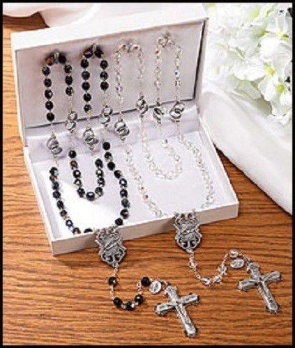 Catholic Wedding Gift For Groom : Wedding rosary gift set bride groom rosaries catholic gift or anniver ...