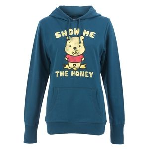 Disney Cuties Winnie The Pooh Women's Show Me The Honey Hoodie (Blue)